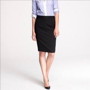 J.Crew No.2 wool pencil skirt in black